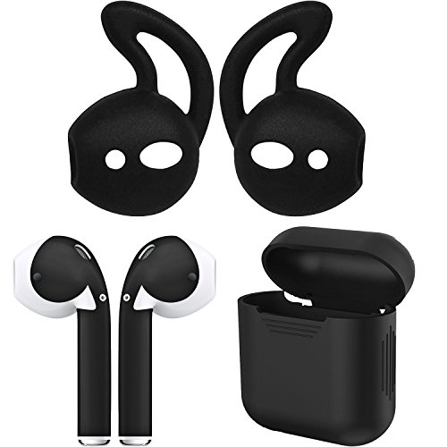 AirPod Skins, Earhooks & Case Bundle – Protective, Stylish, Functional  Accessories (Matte Black)