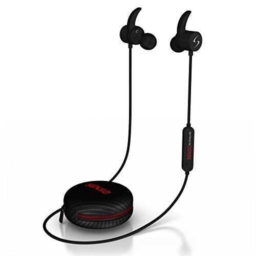 0bacbc9b843 Senso Bluetooth Headphones, Wireless v4.1 Sports Sweatproof Workout Running Magnetic  Earbuds Secure Fit Noise Cancelling Headset with Mic for Workout Gym ...