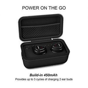 ae4de60edee True Wireless Earbuds With Microphone Shield By Jabees, Detachable  Flex-wire Earhooks Fitness Earphones with Touchpad, Sweat Proof, Wireless  Bluetooth V4.1 ...