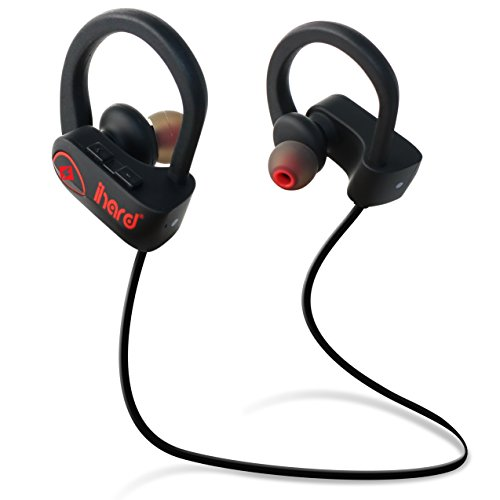 Wireless Headphones Bluetooth Earbuds Sweat and Water-Resistant - IPX7  Waterproof Best Runner Sport Noise Cancelling Headsets with Mic 8hr Battery  HD