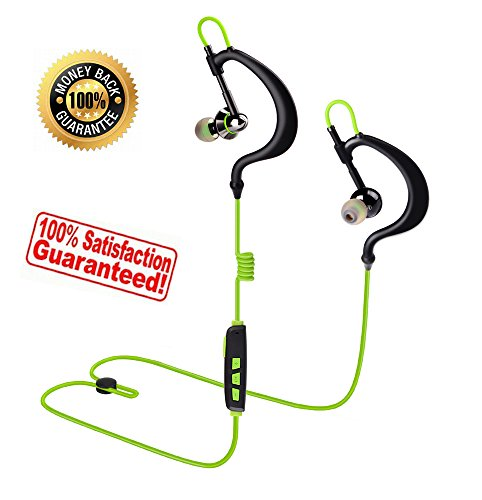 Sport Wireless Headphones Running Bluetooth Earphones with Microphone  In-Ear Earbuds Headset Waterproof Sweat Proof for Work Gym iPhone iPad  Android
