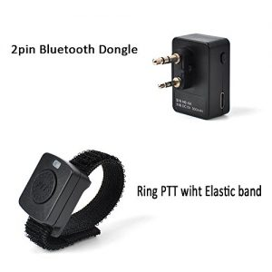 76b1097aa6a TWAYRDIO 2 Pin Wireless Two Way Radio Earpiece Bluetooth Walkie Talkie  Headset with PTT for Kenwood/Baofeng BF-888s/Puxing Wouxun(2 Pack) – Sound  That Out