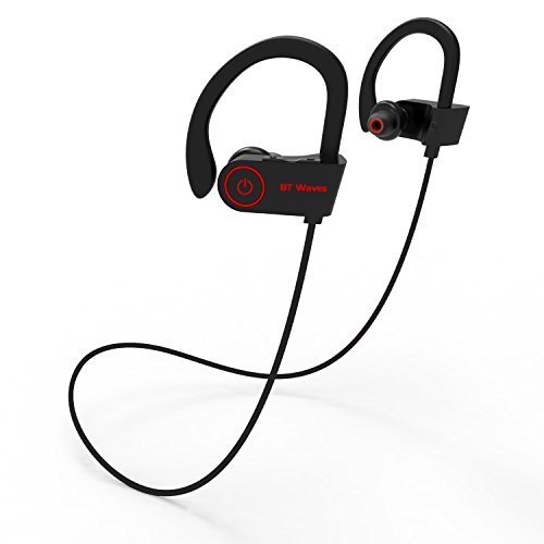 0eba4a0558b BT Waves Bluetooth Earphones Headset with Mic – Top Rated Wireless Earbuds  Headphones 8 Hour Battery for Running and Workout Enjoy Sport with True  Sound ...