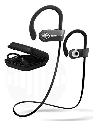 Wireless Bluetooth Running Headphones - SoundWhiz Noise Cancelling  Waterproof Workout Earbuds - w Mic & Siri  Best Sport Headphones 8 Hours  Play