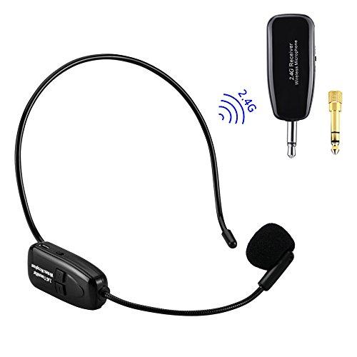 Single Earhook Headset Mic Headworn Microphone for VocoPro Wireless Beige