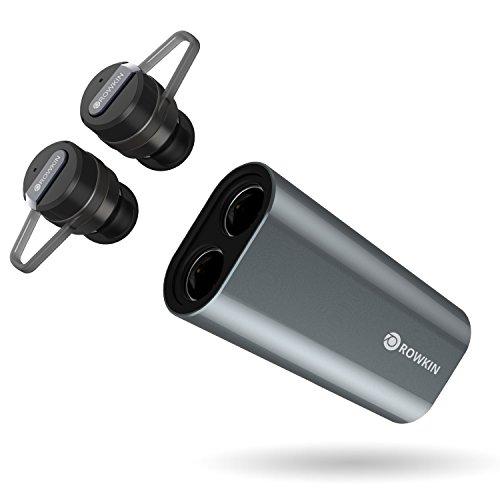 886290915bf Rowkin Bit Charge Stereo with Earhooks: True Wireless Earbuds w/ Charging  Case. Bluetooth Headphones, Smallest Cordless Hands-free Mini Earphones  Headset w/ ...