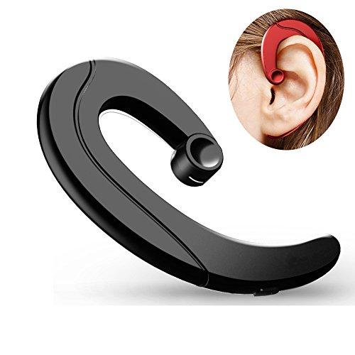 e17adb80d3d Bluetooth Headset Non Ear Plug Wireless Headphones Music Sport Earphones  Dual Noise Cancel Earpieces Earhook With Microphone Hand Free Painless  Wearing ...