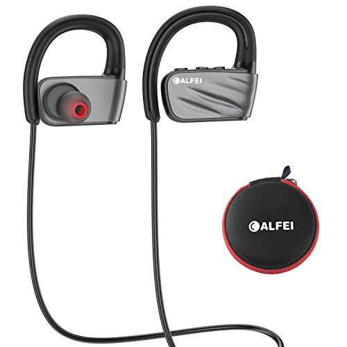 319842b5bab Bluetooth Headphones, CALFEI IPX7 Waterproof Wireless Sport Headset Earbuds  w/Mic HD Stereo, Noise Cancelling for Running Gym Running Working Out 8  Hours