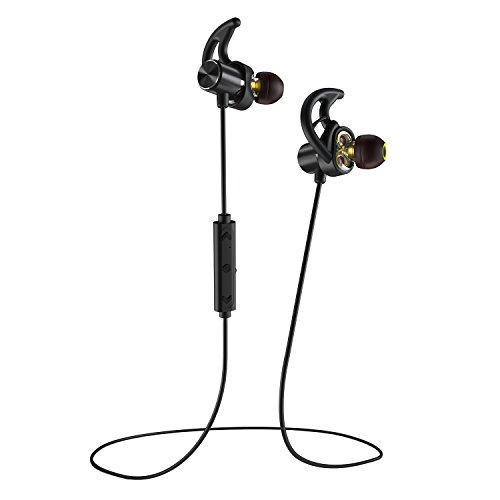 Phaiser BHS-790 Bluetooth Headphones with Dual Graphene Drivers and AptX  Sport Headset Earphones with Mic and Lifetime Sweatproof Guarantee -  Wireless