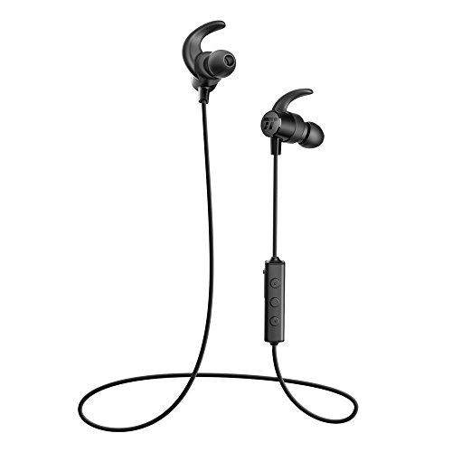 e9f30670a7f TaoTronics Bluetooth Headphones Sweatproof Wireless Headset Sports Earphones  8 Hours 4.2 Magnetic Earbuds (IPX6 Waterproof, aptX Stereo, CVC 6.0 Noise  ...
