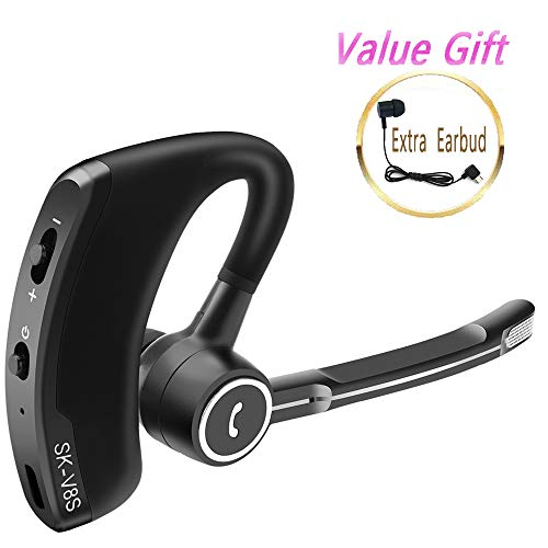 Bluetooth Headset Hd Stereo Bluetooth Earpiece With Dual Noise Cancellation Mic For Cell Phones Ultralight Bluetooth Earbuds Sound That Out