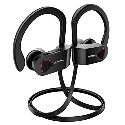 539d5dab3d9 Mpow D1 Bluetooth Headphones, IPX7 Waterproof Sports Earphones w/Mic, HD  Sound Secure Comfort Fit Metal Earbuds, 9 Hours Play Time for Running,  Jogging, ...