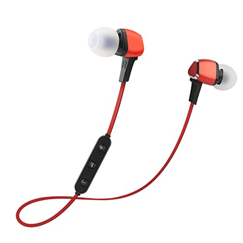 Bluetooth Headphones Sportop Wireless Sports Earphones In Ear Wireless Earbuds 4 2 Best Wireless Sports Earphones W Mic For Gym Running Workout Noise Cancelling Headsets Red Sound That Out
