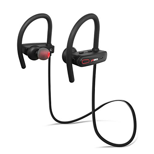 2ec4709be54 Yoshix Bluetooth Headphones, Best Wireless Earbuds for Sports, Running, or  Gym. Noise Cancelling Model with mic and IPX7 Sweatproof/Waterproof and  Secure ...