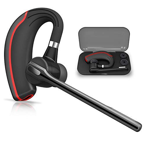 Bluetooth Headset Honshoop Bluetooth 5 0 Noise Reduction Bluetooth Earpiece In Ear Wireless Headphones Mic Earphones Business Workout Driving Red Sound That Out