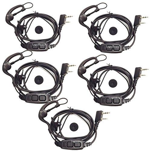 Dual PTT Earphone Earbuds with Mic for Baofeng UV-82 UV82L UV-89 Walkie Talkies