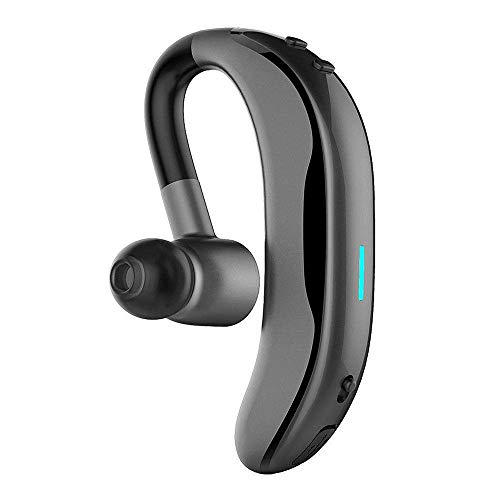 Techcode Wireless Headset With Mic Bluetooth In Ear Headphone W 180 Adjustable Earhook Business Handsfree Mic Earbud Sweatproof Sport Earpiece Noise Cancelling Stereo Earphone For Ios Android Gray Sound That Out