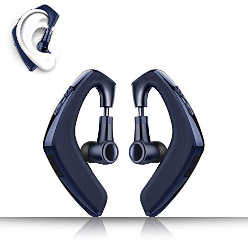 Slub Plus Bluetooth 5 0 Headphones With Mic For Cell Phone True Wireless Waterproof Ipx7 Earhook Lightweight 12h Playtime Invisible Earbuds For Iphone Android Blue Sound That Out