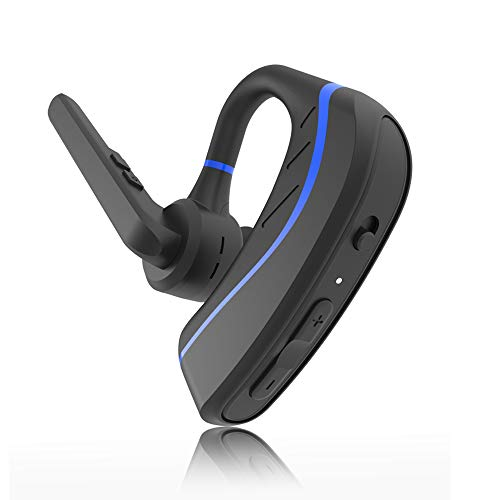 New Bluetooth Headset Aolite Wireless Bluetooth Earpiece Hands Free In Ear Earbuds Headphones With Stereo Noise Canceling Mic For Driving Business Office Compatible With Iphone And Android Blue Sound That Out