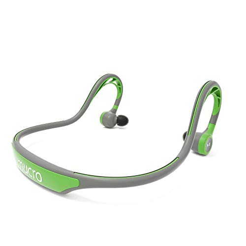 Mucro Wireless Bluetooth Earbuds Behind Neck Running Ear Phones With Mic Sweatproof Built In Stereo Noise Cancelling Headphones For Sports Gym Workout Green Sound That Out