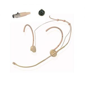 BEKER Earhook Headworn Headset Unidirectional Cardioid Condenser Microphone Compatible with Audio Technica Wireless Bodypack Transmitter for Audio-Technica Radio Mic Wireless Transmitter
