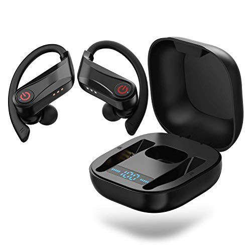 Wireless Earbuds Sports Bluetooth 5 0 Headphones Ipx7 True Wireless Earphones Tws Stereo Hifi Sound Mini Wireless Headset With Earhooks Charging Case For Iphone 11 Pro Max Xs Samsung Android More Sound