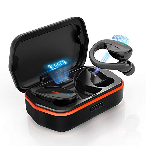 Bluenin Wireless Earbuds Bluetooth 5 0 Headphones With Charging Case Led Battery Display 136h Playtime Tws Aptx Stereo Headset Ipx7 Waterproof Sport Earphones Cvc8 0 Noise Cancelling Mics Black Sound That Out